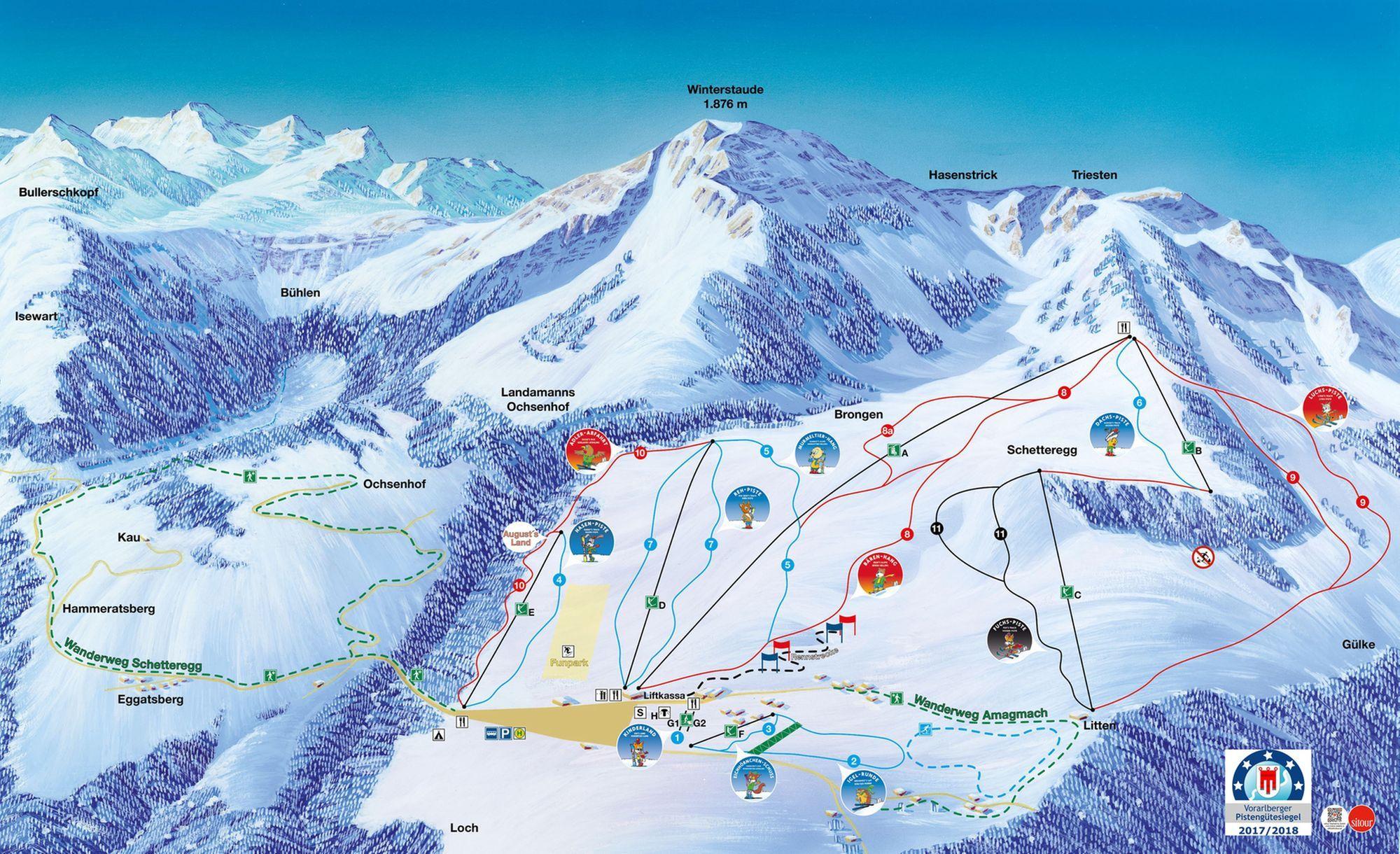 Ski- und Wandergebiet Schetteregg Egg