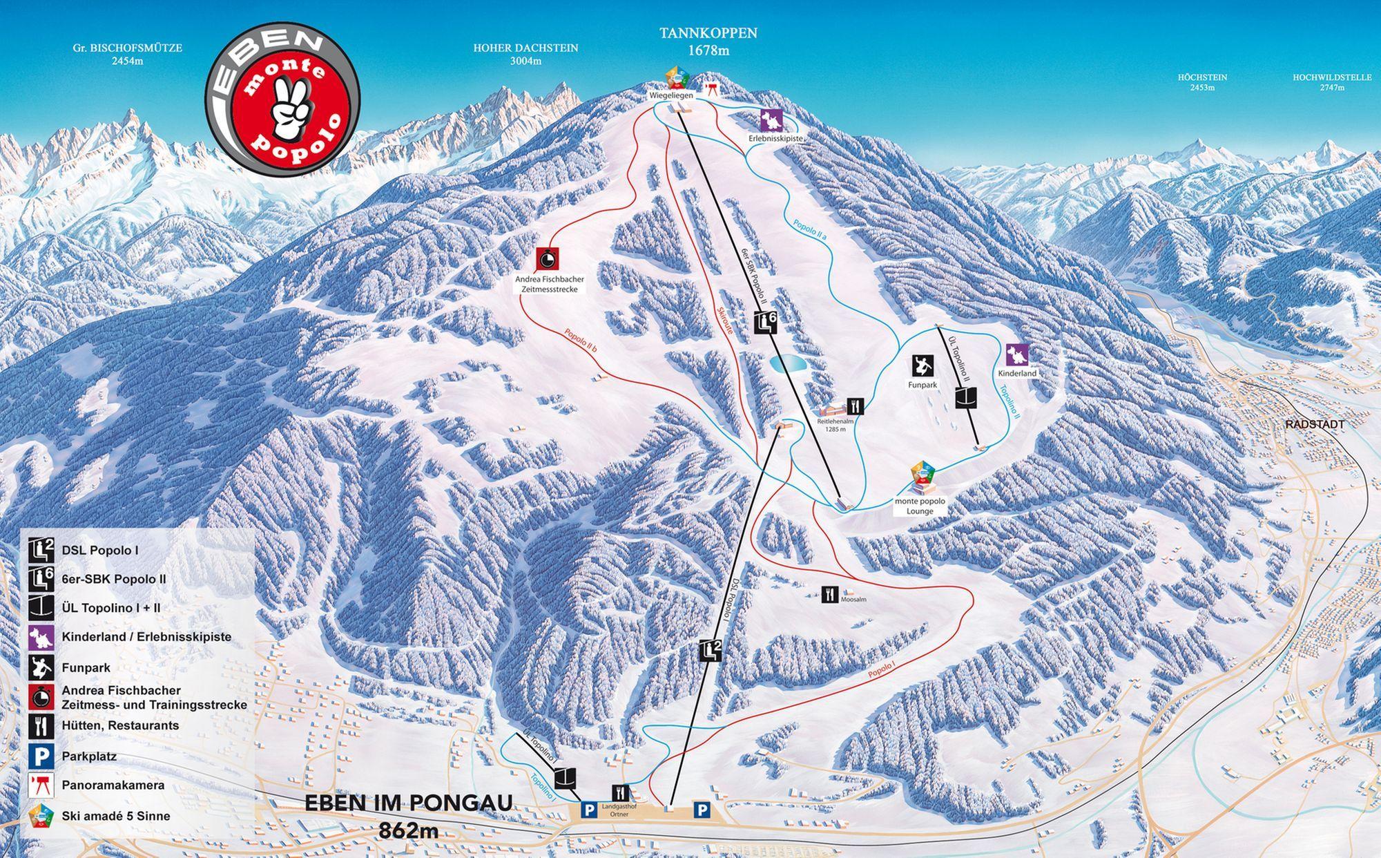 ski area eben monte popolo ski amad salzburg hotels accommodations tiscover. Black Bedroom Furniture Sets. Home Design Ideas