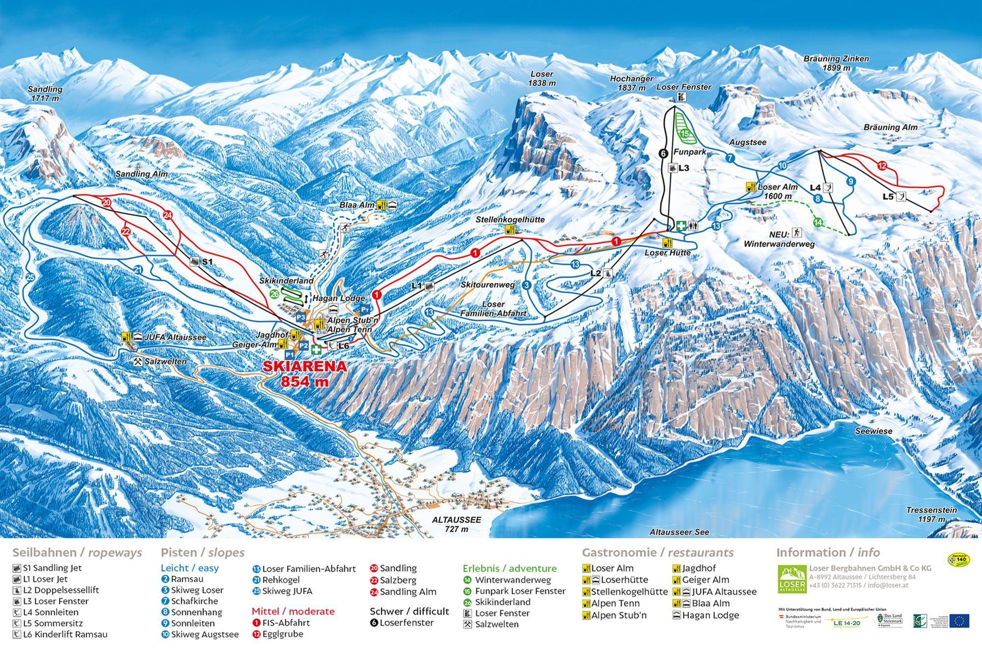 Panorama - Loser Bergbahnen Altaussee Altaussee