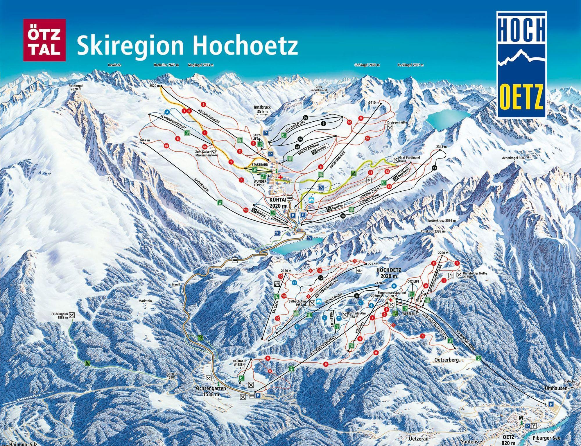 Pistenplan - Hochoetz Oetz
