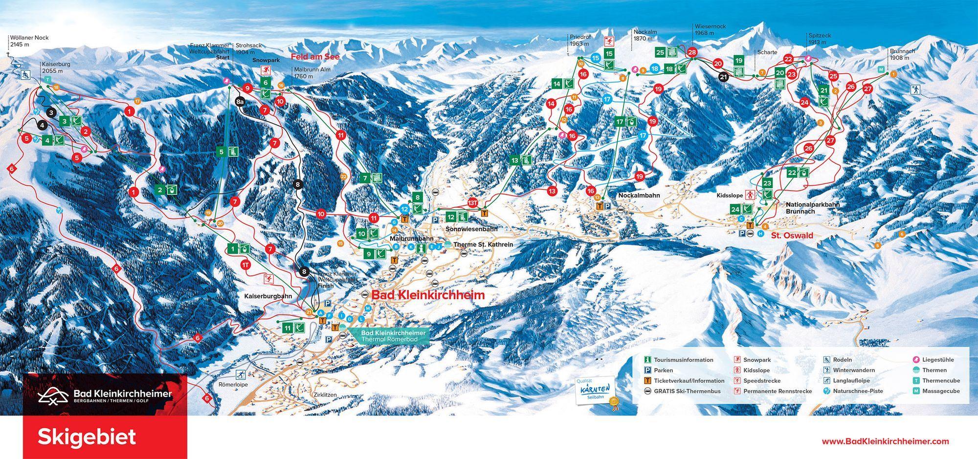 Ski Area Bad Kleinkirchheim Mountain Railways Carinthia Hotels