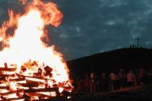 Sonnwendfeuer am Diedamskopf