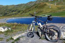 Mountainbike in Damüls