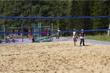 beach volleyballveld