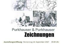 Zeichnungen von Silvia und Peter Purkhauser in der Brauhausgalerie