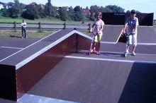 Skate park behind the viaduct