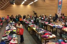 Second hand bazaar organized by the parents´assoc.