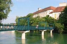 Museumssteg und Wendeltreppe