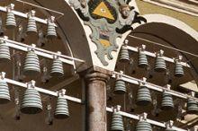 Keramisches Glockenspiel am Gmundner Rathaus