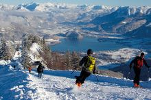 Skiing Mountain Zwölferhorn