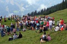 Berggottesdienst bei der Manlitzkar-Hütte