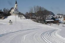 Cross country ski track in Koppl bei Salzburg