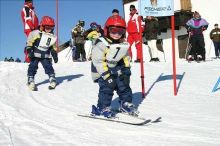 Ski and snowboard course at Feuerkogel ski area