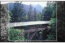 """Teufelsbrücke, Holzbrücke """"Tuxerklamm"""""""