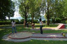 Minigolf course in the public bathing area