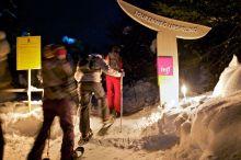 Nachtwanderung mit Schneeschuhen
