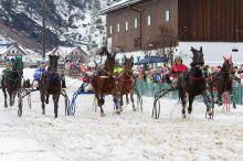 Neujahrspferderennen auf Schnee