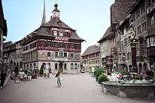Bemalte Bürgerhäuser