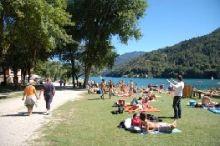 Beach of Pieve di Ledro