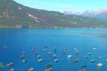 The lake of Santa Croce