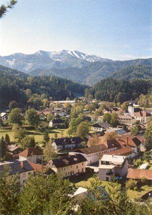 Ein Blick auf unser schönes St. Aegyd mit dem Göller im Hintergrund - St.  Aegyd  am  Neuwalde Lower Austria