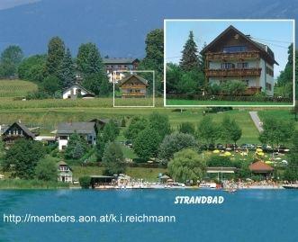 Haus von Süden - vom See aus vgesehen - Apartment/Ferienwohnungen direkt am Faaker See Faaker See