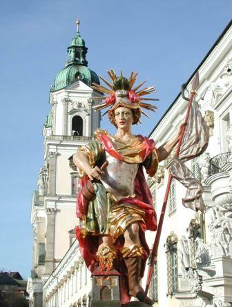 Barocke Darstellung des Hl. Florian, Landespatron Oberösterreichs - St. Florian Oberoesterreich