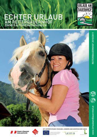 Katalogtitelbild Urlaub am Reiterbauernhof - Urlaub am Reiterbauernhof