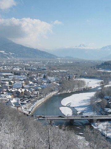 Blick auf Isar - Bad Toelz Bayern