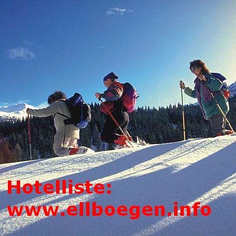 Wöchentlich kostenlose geführte Schneeschuhwanderung für unsere Gäste. - Ellboegen Tirol