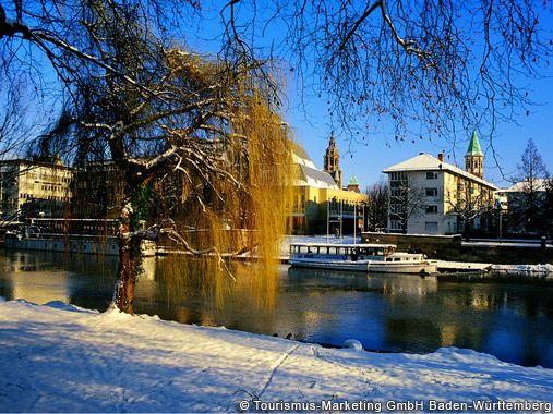 Heilbronn, Neckarpartie im Winter Nr. 815 - Baden-Wuerttemberg