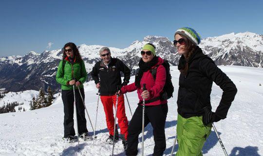 Geführte Schneeschuhwanderung auf das Muttjöchle im Klostertal - Alpenregion Bludenz   Vorarlberg