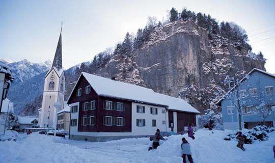 Bürs im Winter - Buers Vorarlberg