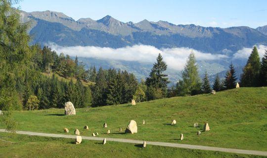 Steinkreise auf dem Hochplateau Tschengla - Buerserberg Vorarlberg