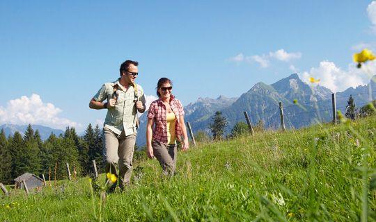 Wandern am Hochplateau Tschengla im Brandnertal - Brandnertal Vorarlberg