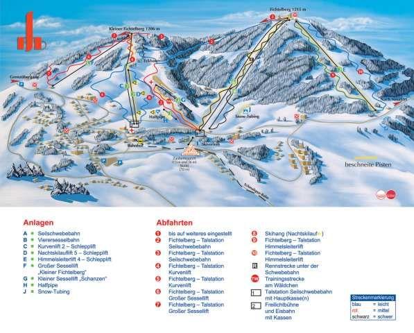 Das größte Skigebiet Sachsens im Überblick - Kurort Oberwiesenthal Sachsen