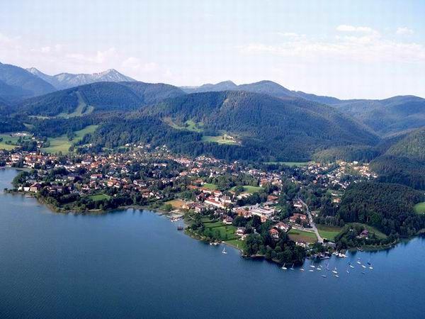 Luftansicht Bad Wiessee am Tegernsee - Bad Wiessee Bayern