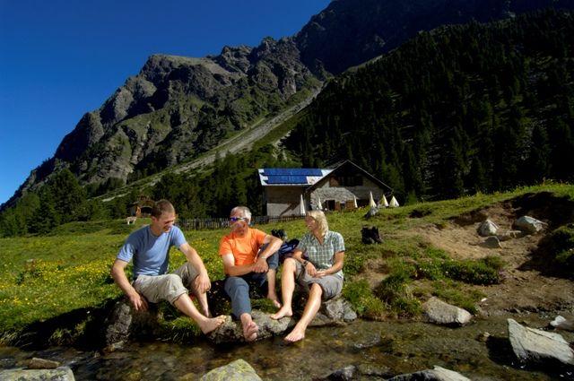 Relaxen nach einer anstrengenden Wanderung - Kauns Tirol