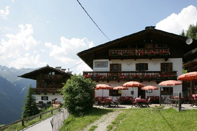 Der Bichl im Sommer - Gaestehaeuser-Appartements Bichl Umhausen - Niederthai
