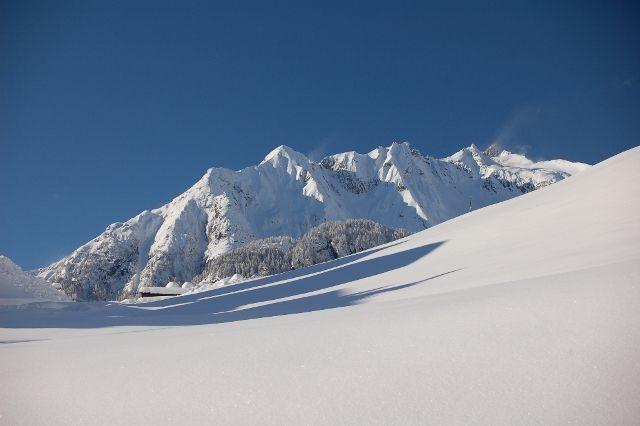 Tiefverschneites Prägraten, Blick Richtung Wiesbauerspitze Foto: Friedl Steiner - Praegraten am Großvenediger Tirol