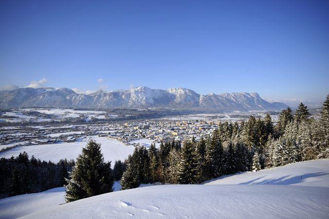 Die Aussicht auf Wörgl im Winter. - Woergl Tirol