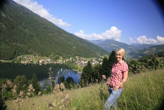 Blick auf Brennsee Feld am See Kärnten Österreich - Feld am See Kaernten