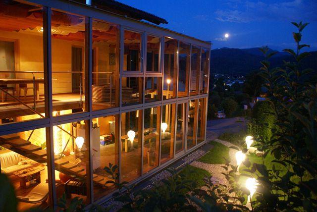 Wintergarten Abend - Bergblick Fuschl am See