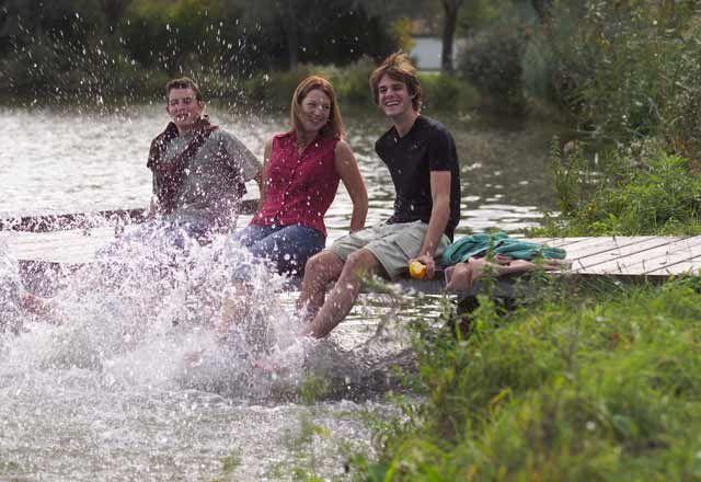 Fun in the Bernhardsthal in summer, at the largest country lake in the Weinviertel region - Weinviertler  Dreilaendereck Lower Austria