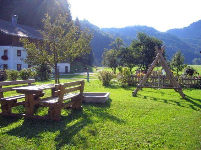 Garten vor dem Haus - Dichtlbauer St. Gilgen