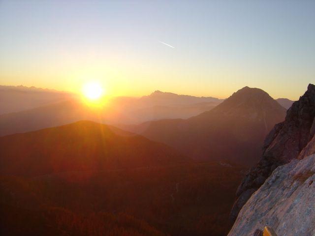 Sonnenuntergang - Tritscherhof Ramsau am Dachstein