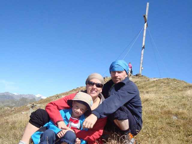 Unsere Familie Peter und Daniela mit Sohn Lorenz - Ferienwohnung Daniela Mair Innervillgraten