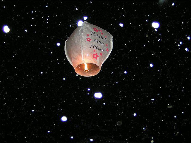 Neujahrsballon - Alpina appartements Schroecken