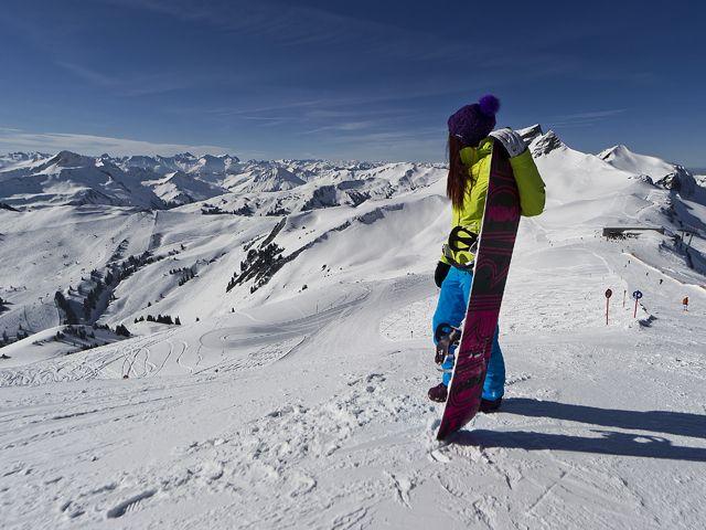 Im Skigebiet Damüls - Mellau - Damuels Vorarlberg