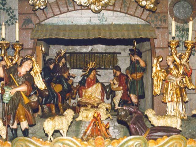 Weihnachtskrippe in der Pfarrkirche - Traunkirchen Oberoesterreich
